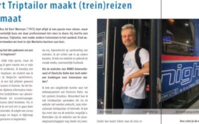 Interview met triptailor in het ledenmagazine van TreinTramBus